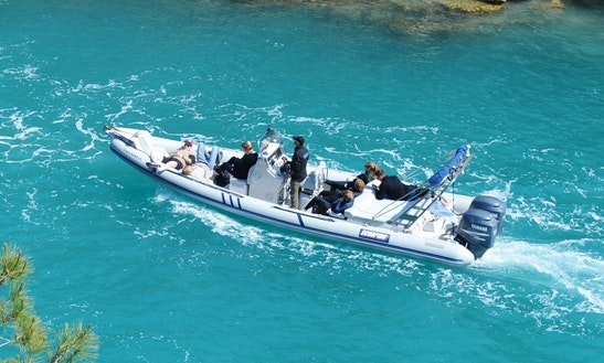 Scorpion 860 Rigid Inflatable Boat Available For Charter In Paros, Greece