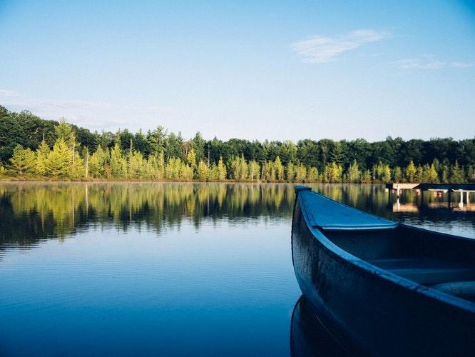 Canoe on Lake Lanier