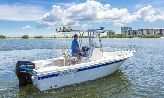 Look Here!!!!   Super Deal!!!   Center Console With Easy Access To  Tampa Bay / Gulf Of Mexico  (right On Tampa Bay) Center Console Sea Fox 237cc 200hp—>depart From Residential Boat Lift