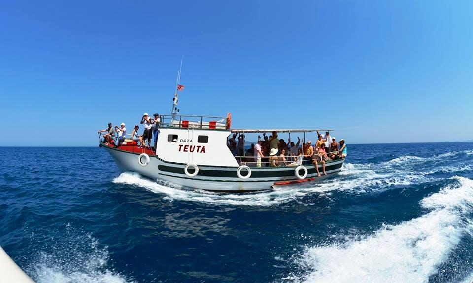 Charter a 35 Person Trawler in Vlorë County, Albania for Island Hopping Fun