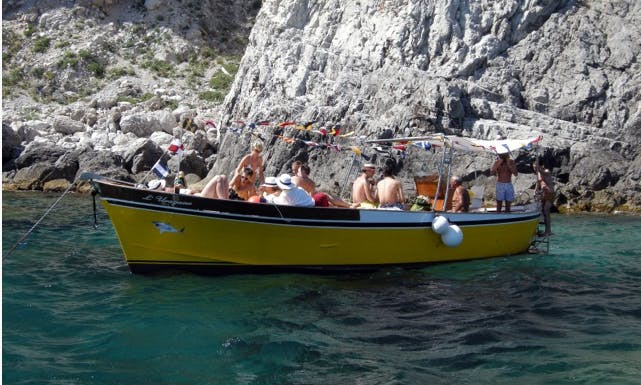 Have an amazing time in Capri, Campania on 33' Hurricane Gozzo