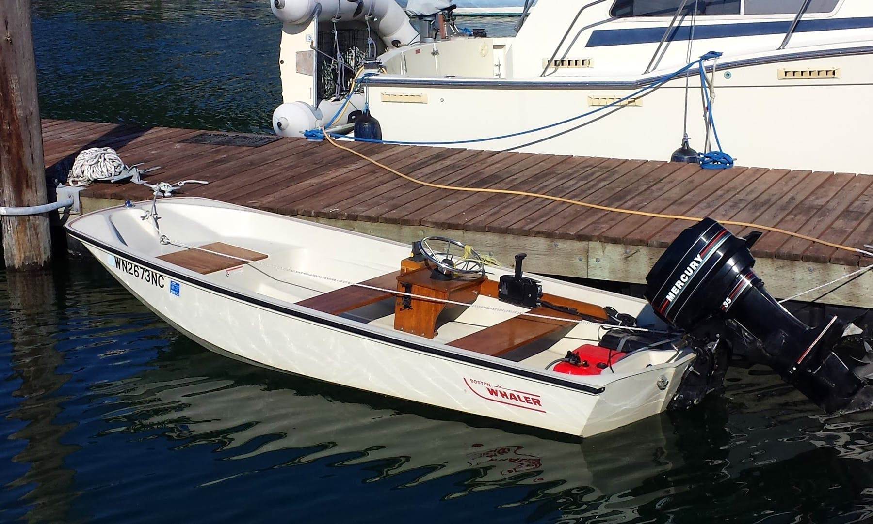 Classic 13' Boston Whaler for rent in Freeland