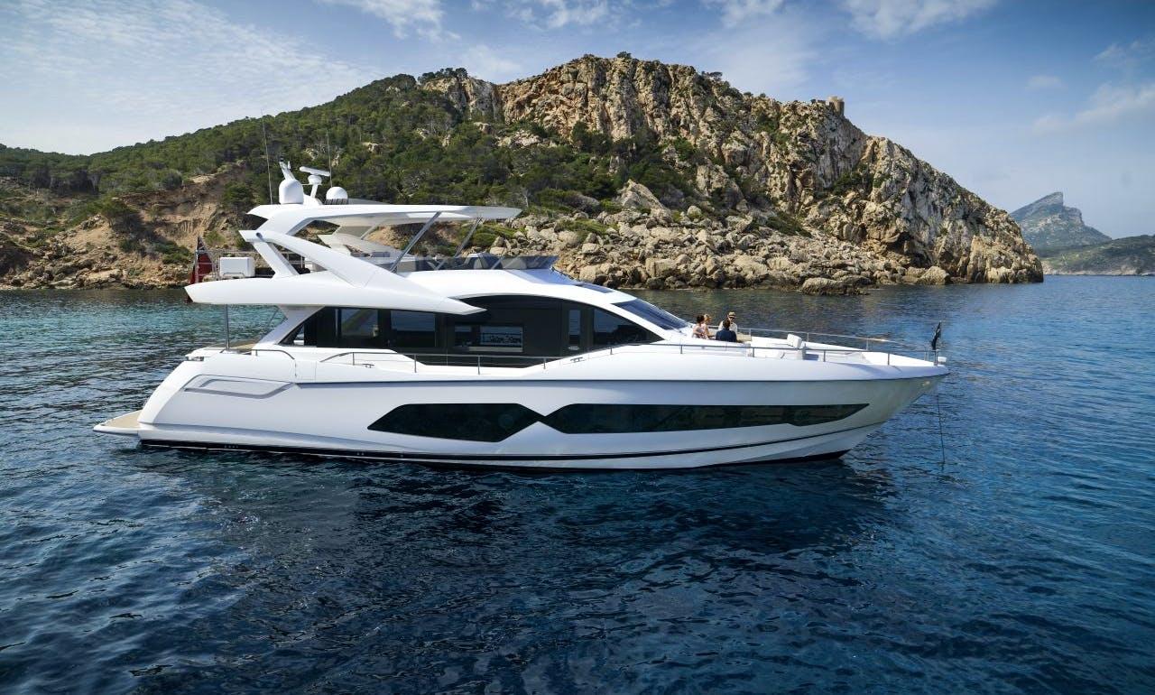 2015 Sunseeker yacht charter in Hong Kong Island