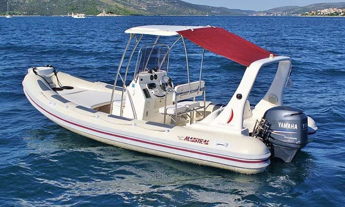 Maestral 650 Hard Top Rigid Inflatable Boat Charter in Tisno, Croatia For 8 People