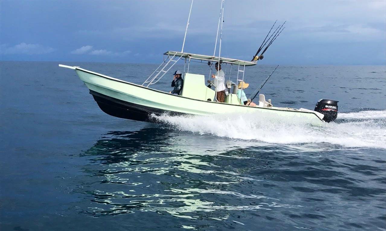 Enjoy Fishing On This 5 People Center Console Fishing Charter in Herradura, Costa Rica