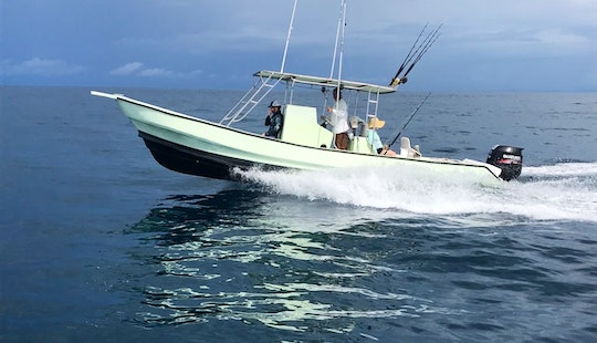 Enjoy Fishing On This 5 People Center Console Fishing Charter In Herradura, Costa Rica