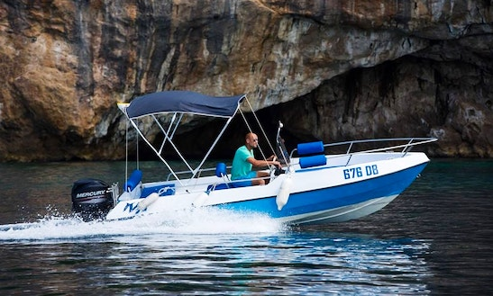 Blue Colour Center Console Charter In Dubrovnik, Croatia For 5 People
