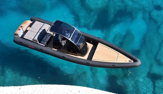 Hit The Water In Mikonos, Greece With This 37' Scorpion Ribco Rib