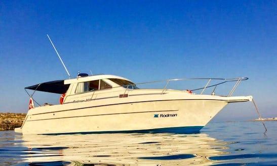 10 Persons 32' Rodman Motor Yacht Charter In San Ġwann, Malta