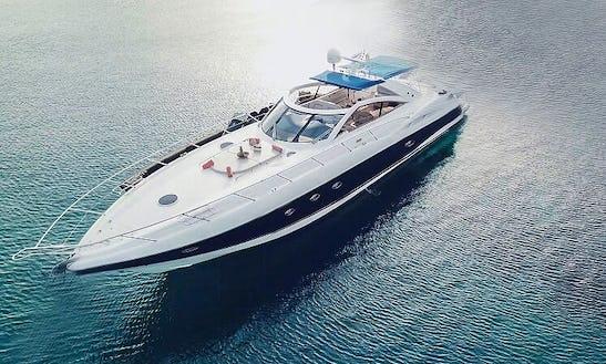 Charter The Yacht Of Your Dreams 61' Sunseeker In Mykonos, Greece