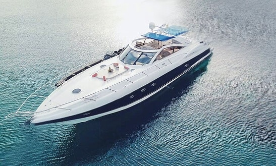 Charter The Yacht Of Your Dreams 61' Sunseeker In Mykonos, Greece