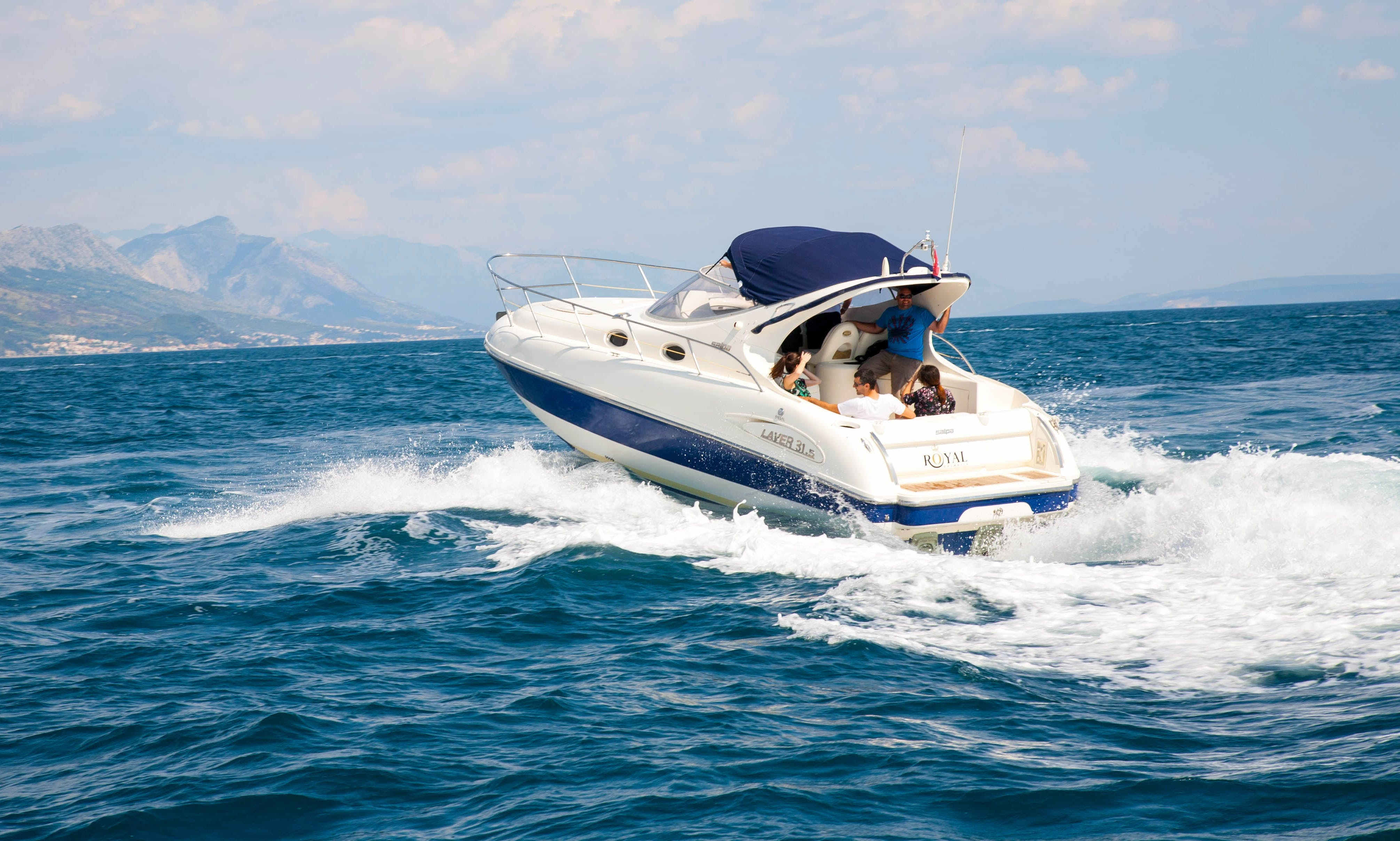 Explore Adriatic Sea with Two Cabins Motor Boat
