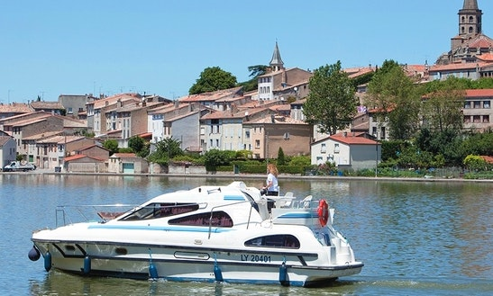 Ease Up On A 34 Ft Canal Boat For Rent In Canal Du Midi, France