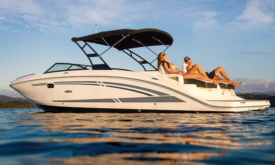 Sea Ray 290 Sdx Deck Boat Charter For Day Trips To Lerins Islands Or Cap D'antibes Bay