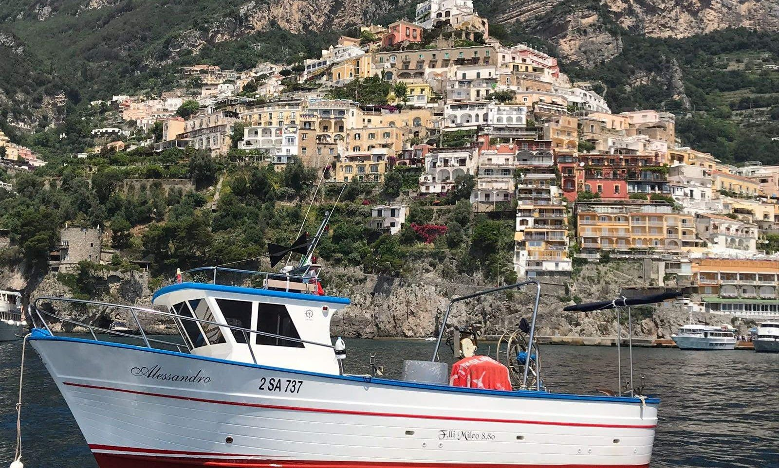 Go fishing on the Almafi Coast right out of the picturesque Positano