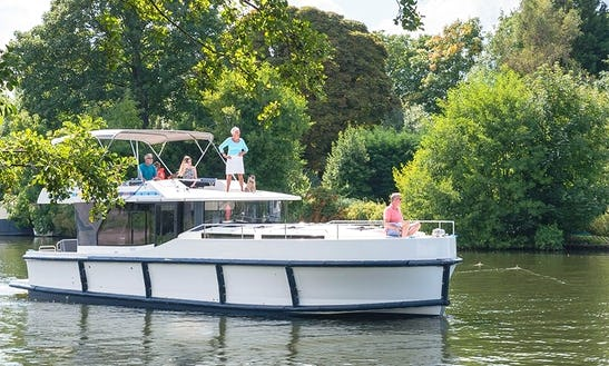 Roomy 43 Ft. Rental Canal Boat In Wolfsbruch, Germany (licence Required)