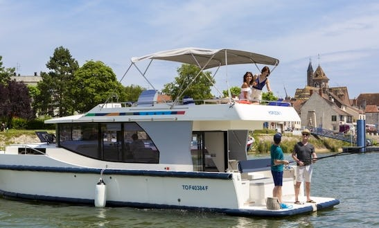 Unwind In A 38' Canal Boat For Rent In Muritz, Germany