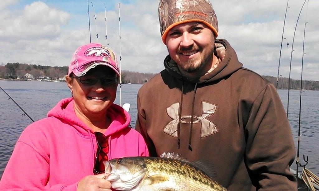 Couple on a Lake Norman Fishing Charter