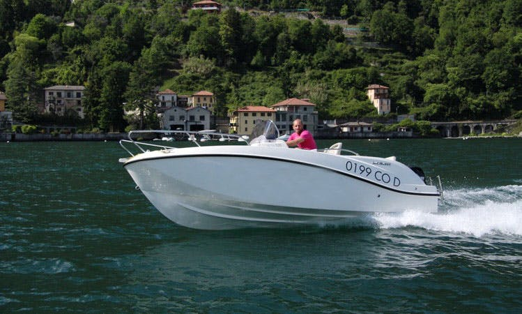 Rent 18' Quicksilver Active Open Center Console In Argegno, Italy