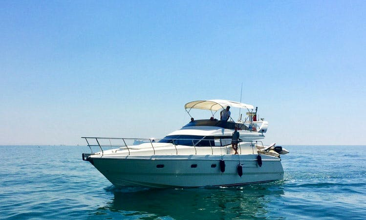 Experience a Spacious Azimut 43 Fly Motor Yacht Charter in Lisbon, Portugal!