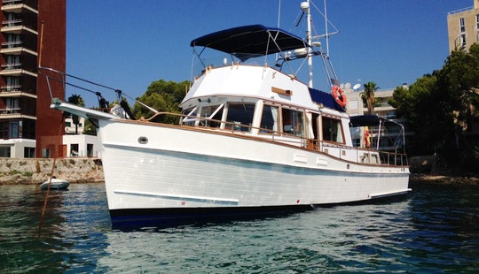 Grand Banks 42 Classic Motor Yacht Charter In Palma De Mallorca, Spain