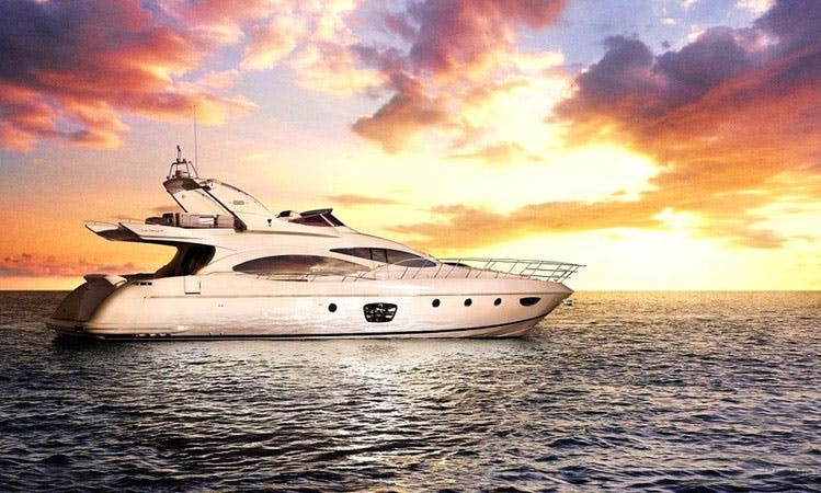 Charter a 72' Azimut EF Power Mega Yacht for 8 Person in Athens, Greece
