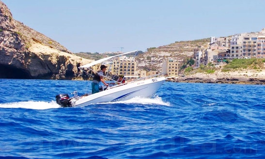 Hire A 13' Self-driven Speed Boat 1 In Xlendi Bay, Munxar