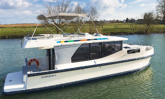 Wander Through Carrick On Shannon, Ireland With A 38' Canon Boat For 5 Persons