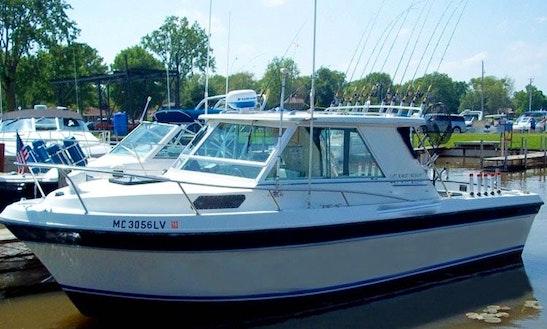 25ft Cherokee Cuddy Cabin Boat Fishing Charter In La Salle Township, Michigan