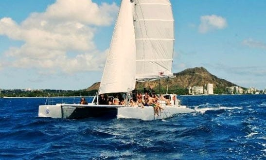 Enjoy 45 Ft Waikiki Rigger Sailing Charter In Honolulu, Hawaii