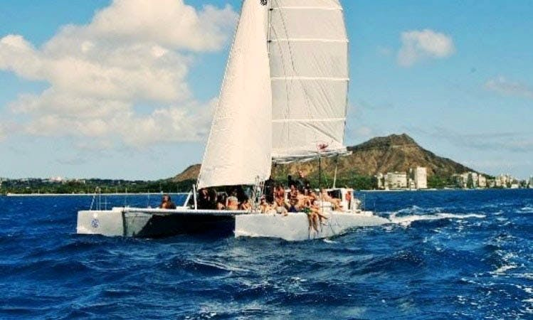 Enjoy 45 ft Waikiki Rigger Sailing Charter in Honolulu, Hawaii