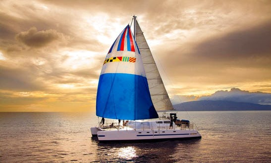 Charter 50ft 'trilogy Vi' Sailing Catamaran In Lahaina, Hawaii