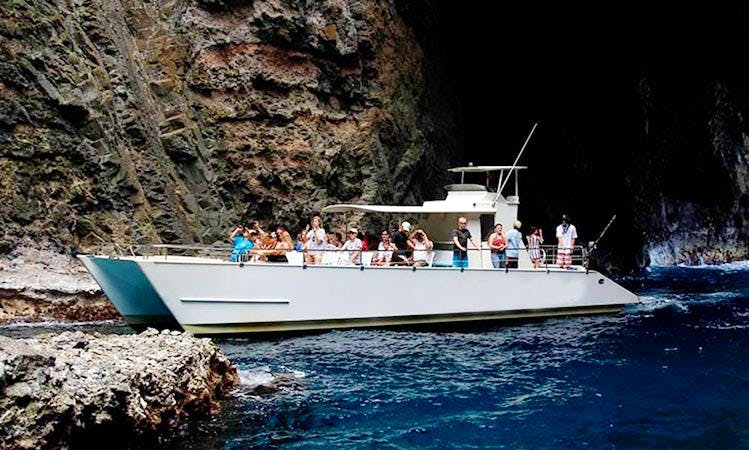 Charter on 49ft Na Pali Kai III Power Catamaran in Waimea, Hawaii
