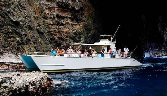 Charter On 49ft Na Pali Kai Iii Power Catamaran In Waimea, Hawaii