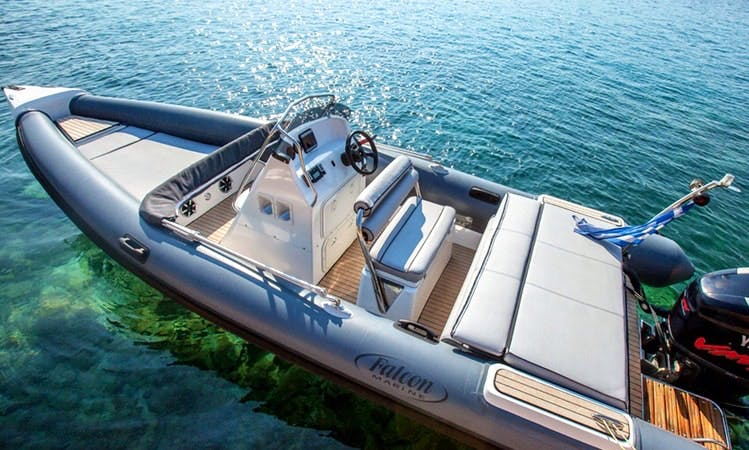 Gorgeous 23' Falcon Center Console could be yours for a day for only €350 per day in Pouda, Greece