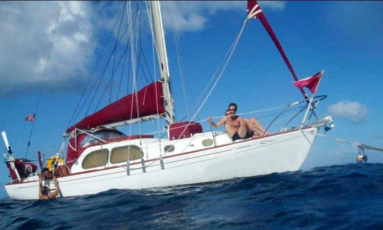Waywar Sailor Yacht In St. John, USVI Snorkeling and Sailing