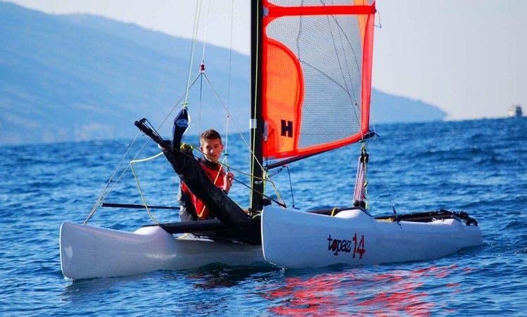 Topper Topaz 14 Beach Catamaran rental and Courses in Malcesine