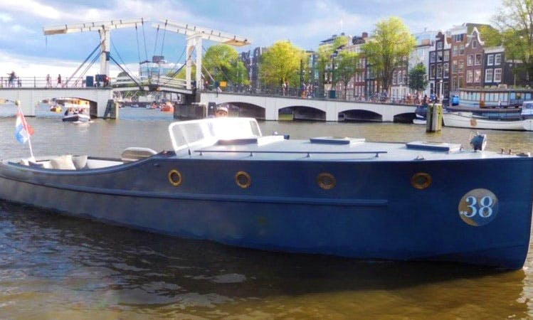 Hire VIP boat .38 Canal Boat For 12 People in Amsterdam, Noord-Holland