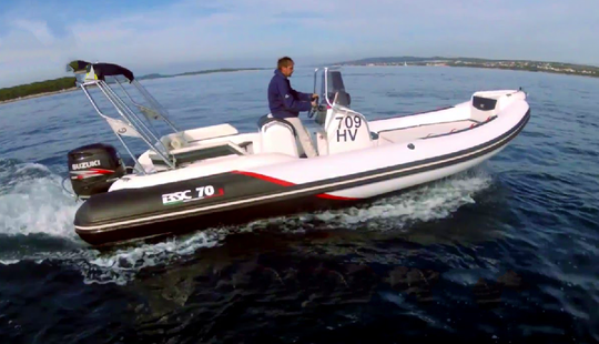 Bsc 70 Limited Rigid Inflatable Boat Charter In Zadar, Croatia For 10 People