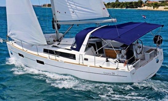 An Amazing Charter Experience With 38' Beneteau's Oceanis 'fede' Cruising Monohull In Sukošan, Dalmatia