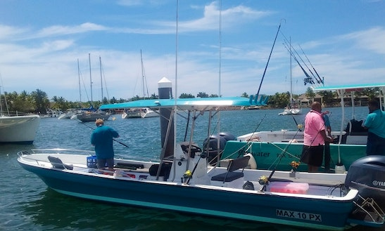 Go Fishing On 28ft Fibre-glass Center Console In Denarau Island, Fiji.