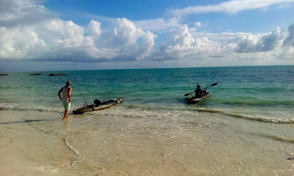 Fish from a special fishing kayak in Jambiani, Tanzania