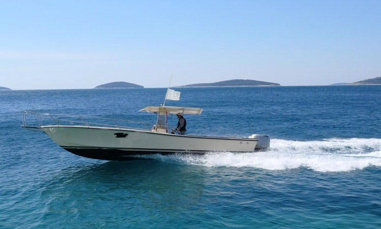 Charter a crewed power central console boat at Island Vis, Croatia