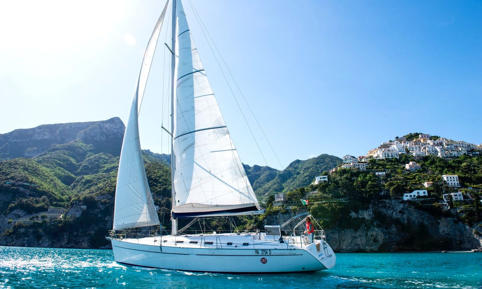 Beneteau Cyclades 50.4 Charter for Up to 13 People in Salerno, Italy