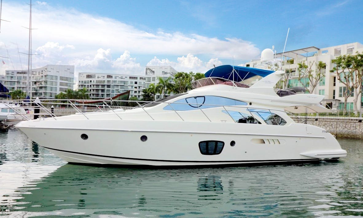 """Cruise in style in Phuket, Thailand aboard """"After 8"""" Azimut 55 Evolution power mega yacht"""