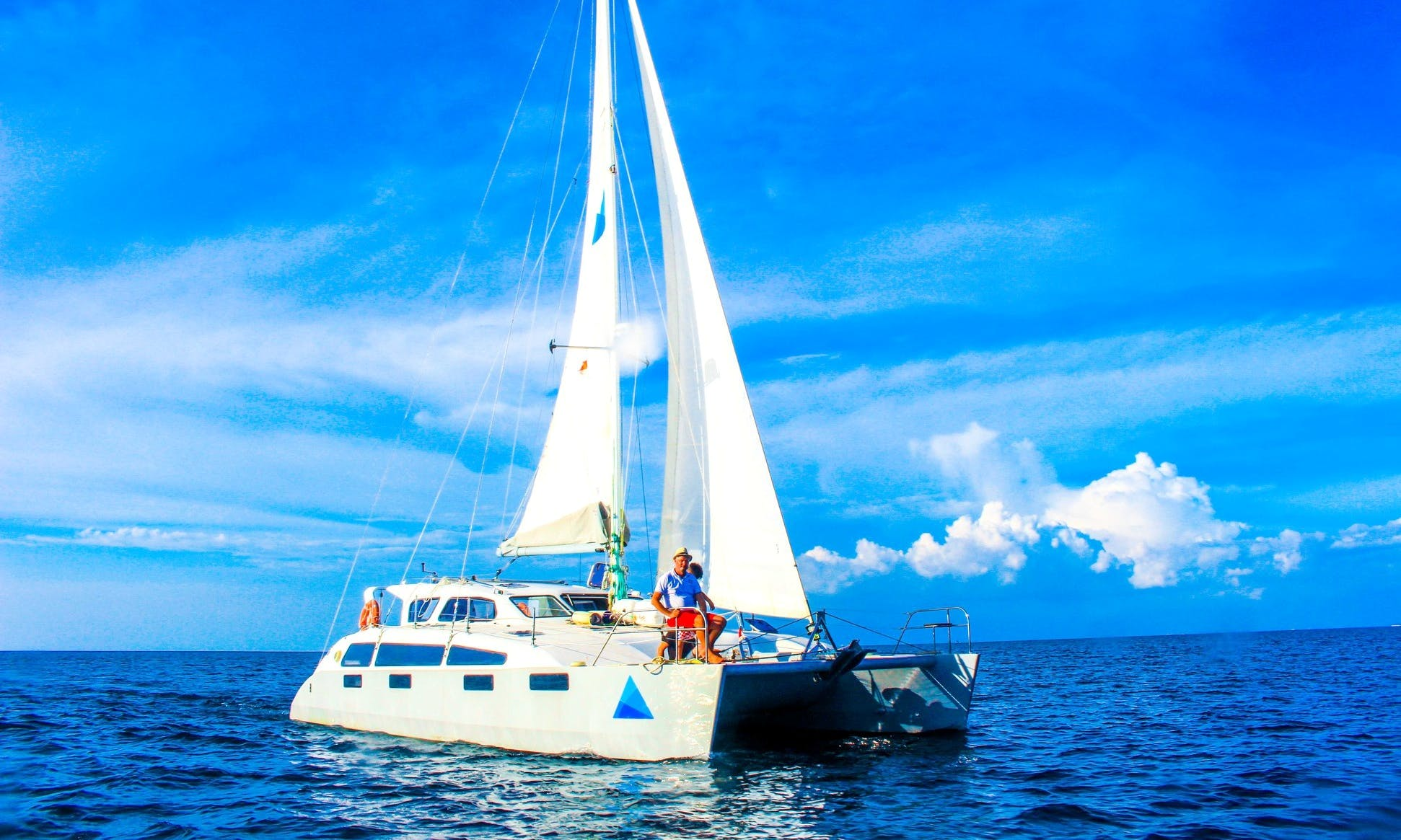 "Cruise aboard this 39' luxury and comfort ""Blue Nutmeg"" catamaran in Bali, Indonesia"