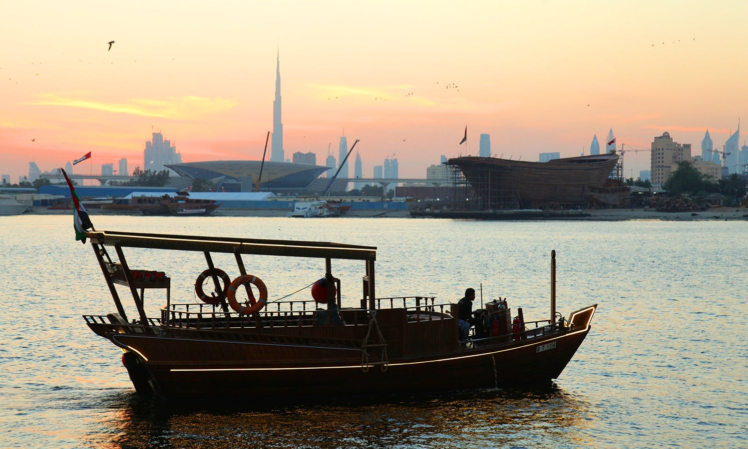 Amazing Classic Wood Boat perfect for Sightseeing in Dubai