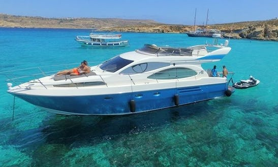 46ft Flybridge Azimut Yacht Charter In Maltese Islands, Malta For 10 Person
