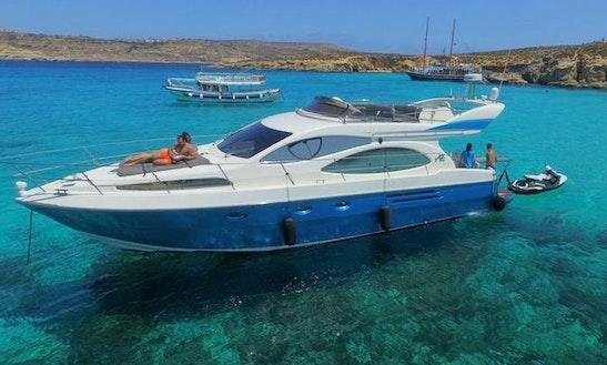 46ft Flybridge Azimut Yacht Charter In Maltese Islands, Malta For 10 Person