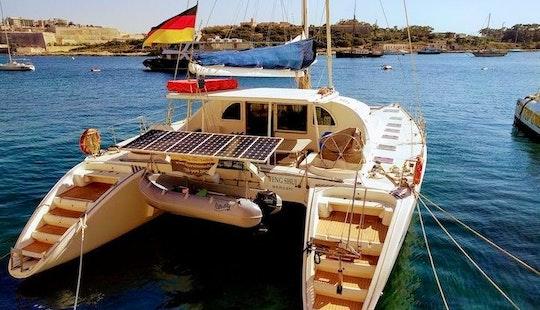 57ft Lagoon Cruising Catamaran Charter In Maltese Islands, Malta